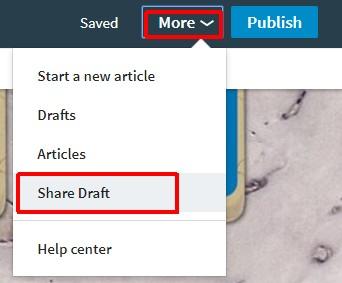 share draft linkedin